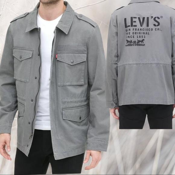 Levi's Midweight 4-Pocket Logo-Print Field Jacket